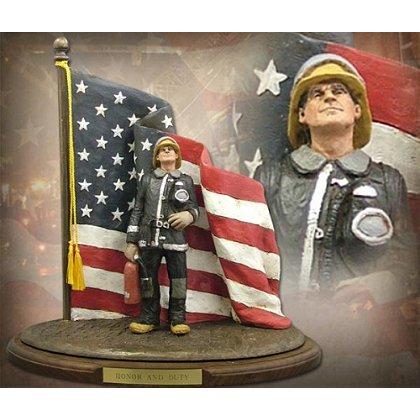 Honor And Duty Firefighter Statue