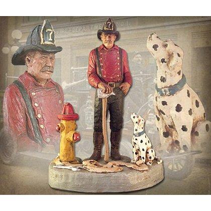 Michael Garman Handpainted Smoke Eater Diorama