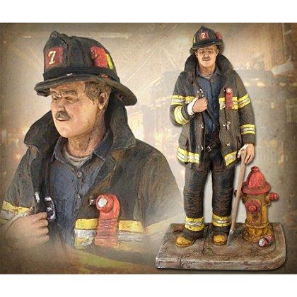 Rescue Company Firefighter Statue