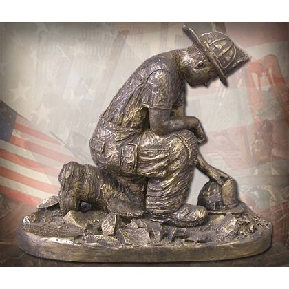 No One Goes Alone Firefighter Statue