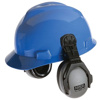 MSA HPE Helmet-Mounted Earmuff, Passive Hearing Protection