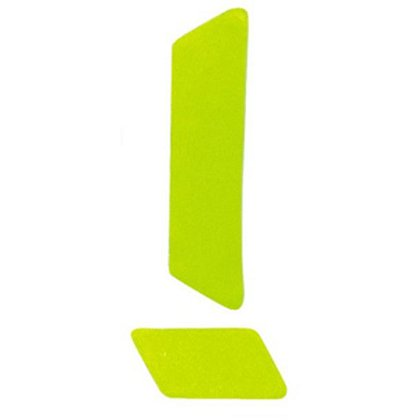 "MSA 1"" x 4"" Lime/Yellow Reflexite TetraBars, 16 Per Sheet"