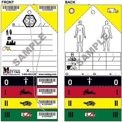 Mettag Medical Emergency Triage Tag