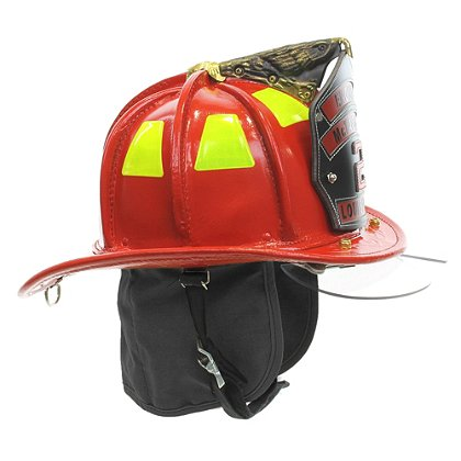 Cairns N5A New Yorker Red Leather Helmet, OSHA