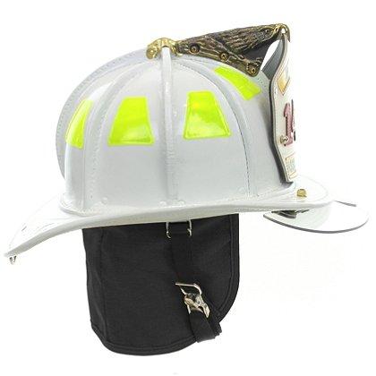 Cairns N5A New Yorker White Leather Helmet, OSHA