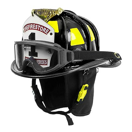 Cairns Black N6A Houston Leather Fire Helmet