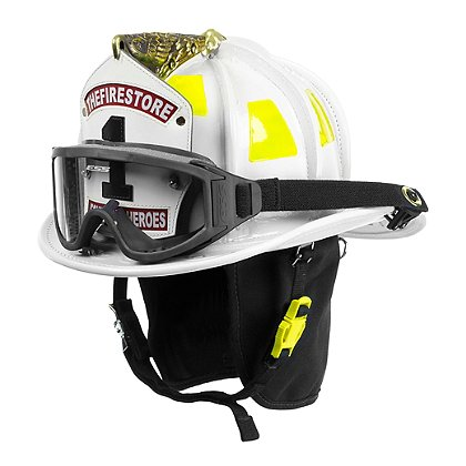 Cairns White N6A Houston Leather Fire Helmet
