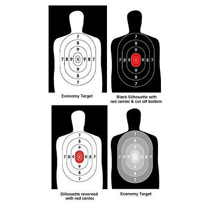 National Target  Law Enforcement Silhouette, 50 Yard, 22.5