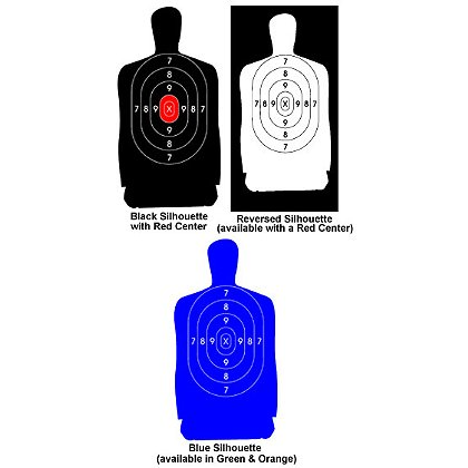 National Target Law Enforcement Silhouettes, 25 yard, 14