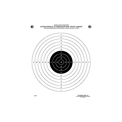 National Target Official NRA Competition Targets, International Pistol, Heavy Paper