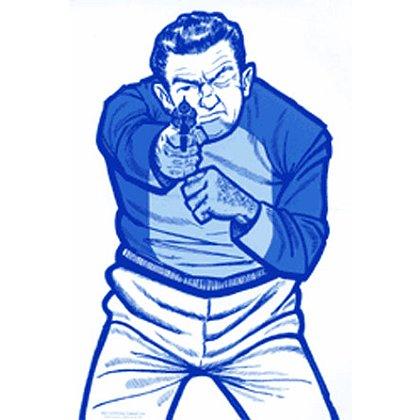 National Target Law Enforcement Silhouette, Drawn Man, Blue 24