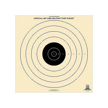 National Target High Power Rifle Target, 100 Yard Military Type, 6 3/8