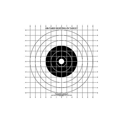 National Target 100 yard Rifle Sighting Target