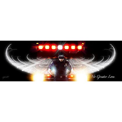 No Greater Love Male EMS Print