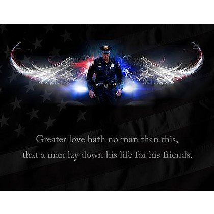 Law Enforcement No Greater Love Print