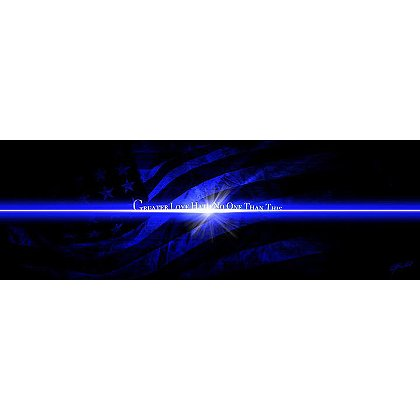 Thin Blue Line and Flag Art Print
