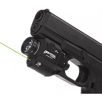 Nightstick Compact Tactical Weapon-Mounted Light with Green Laser