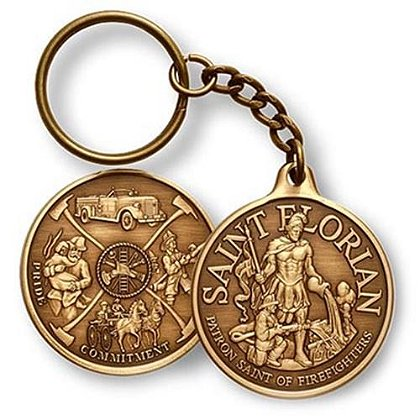 St. Florian Pride Commitment Service Challenge Coin Key Chain