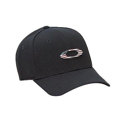 Oakley Tincan Cap, Black with American Flag
