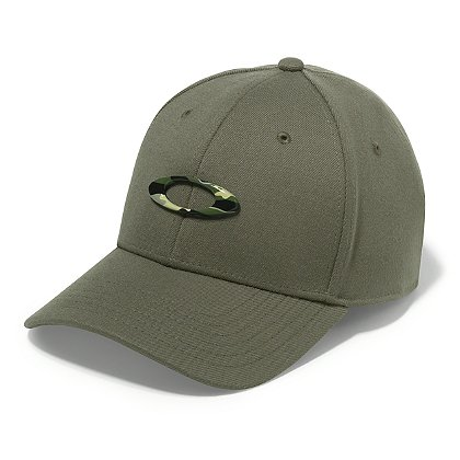 Oakley Tincan Cap, Worn Olive with Graphic Camo