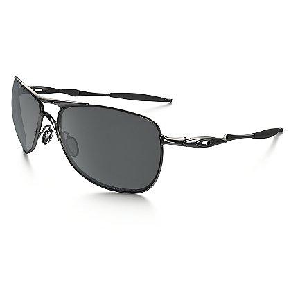 Oakley Crosshair Sunglasses Lead w/ Black Iridium Polarized Lenses