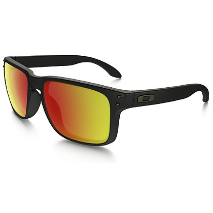 Oakley Holbrook Sunglasses, Black/Ruby Iridium