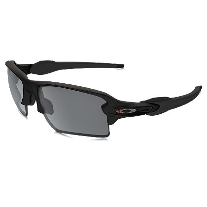 SI Flak 2.0 XL Thin Red Line Satin Black Frames w/ Black Iridium Lenses