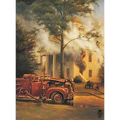 Historic Courthouse Fire Kentucky Firefighter Association Historic Print #2