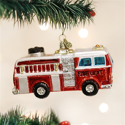 Old World Christmas Fire Truck