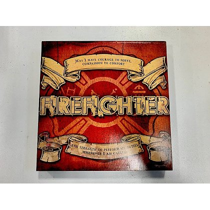 Firefighter Wood Sign