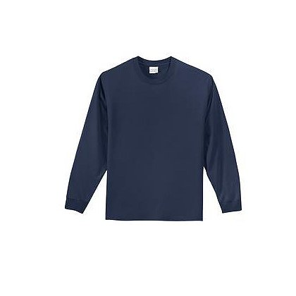 SanMar Precious Cargo Cotton Long Sleeve Youth Shirt, Navy