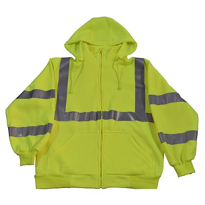 Petra Roc Hi-Viz Lime Hooded Sweatshirt