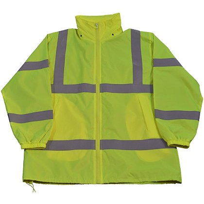 Petra Roc Hi-Viz Lime Windbreaker Jacket with Detachable Hood