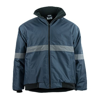 Petra Roc Navy Blue Enhanced Visibility Quilted Bomber Jacket
