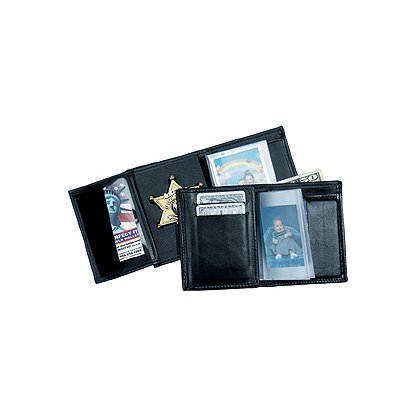 Perfect Fit Leather Badge ID Credit Card Wallet