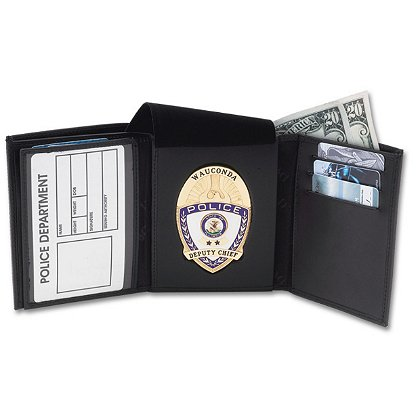 Perfect Fit Traditional Tri-fold Badge Wallet