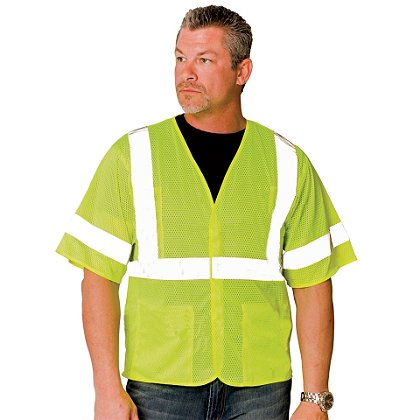 PIP ANSI Class 3, Economy Mesh Vest Hook & Loop Closure, 4 Pockets