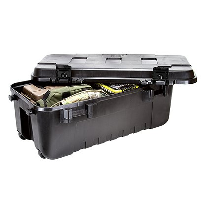 Plano Sportsman's Trunk, Black 111 Quart w/ Wheels, No O-Ring