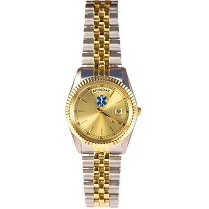 EMS Star Of Life Sterling Silver Gold Tone Watch