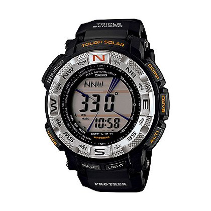 Casio Pro Trek Solar Power, Black Rotating Bezel