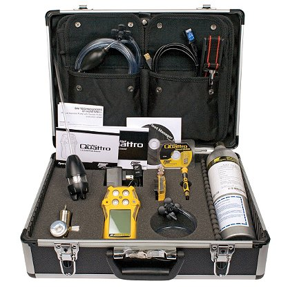 BW Technologies GasAlertQuattro Confined Space Kit, Calibration with Sampling Probe and Detector