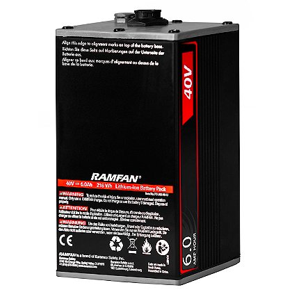 Ramfan 40V 6Ah Battery Pack for EX50Li All Purpose Ventilator