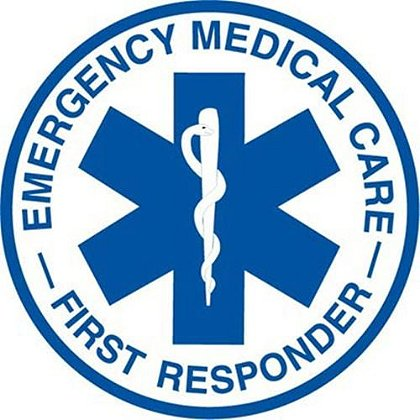 Emergency Medical Care First Responder 3.5 Inch Round Decal