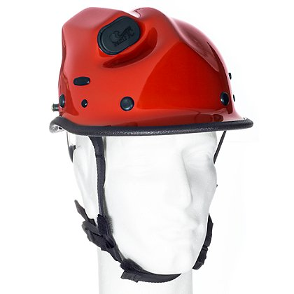 Pacific R5 Rope Rescue/Extrication Helmet w/Torch Pod, Red