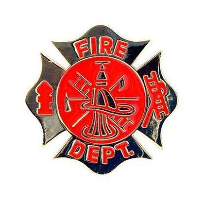 Fire Department Maltese Cross Scramble Belt Buckle