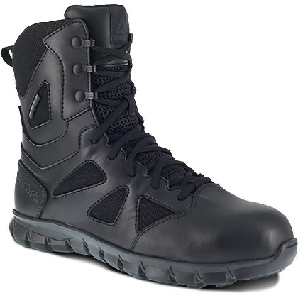 "Reebok 8"" Sublite Side Zip Duty Boots w/ Safety Toe"
