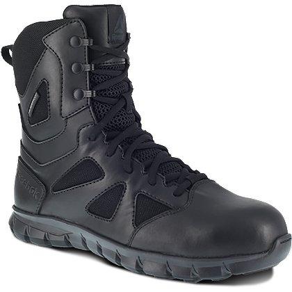 """Reebok 8"""" Sublite Side Zip Duty Boots w/ Safety Toe"""