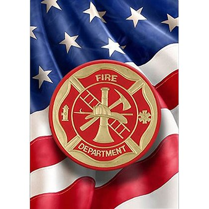 Fire Dept. Maltese Cross House Flag