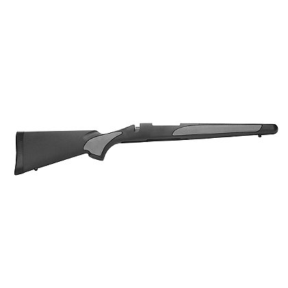 Remington 700 Hinged Floorplate Long Action Black Synthetic Rifle Stock with Hogue Overmolded Grips