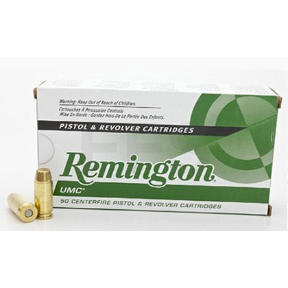 Remington UMC Pistol. .40 S&W, 180 gr., Case of 500